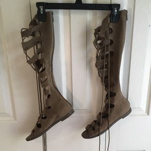 Shoes - Lace up gladiator sandals NWOT
